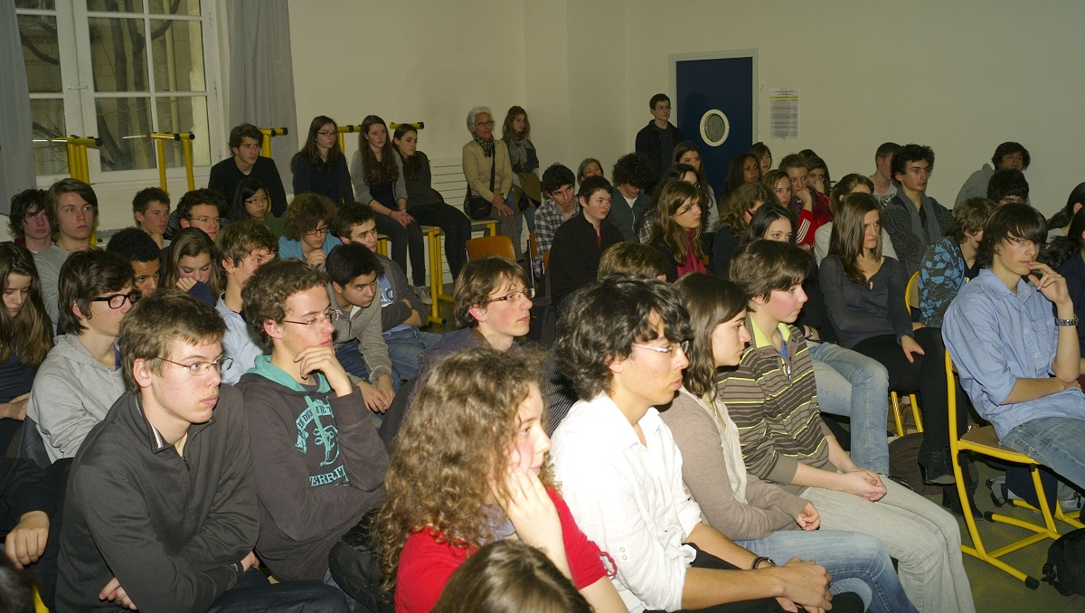Intervention de Sam Braun au lycée Lavoisier de Paris (mars 2011)