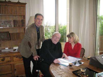 Sam Braun, chez lui, avec Nathalie Rodallec et Jean-Pierre Lauby (avril 2011)
