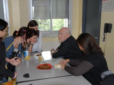 Sam Braun and Malka at Blaise Pascal high school (may 2008)